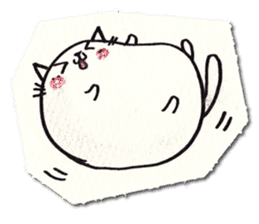 Perfectly round cat sticker #751151