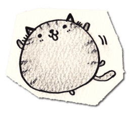 Perfectly round cat sticker #751155