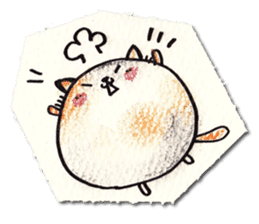 Perfectly round cat sticker #751157