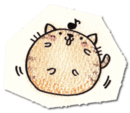 Perfectly round cat sticker #751158