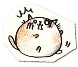 Perfectly round cat sticker #751159