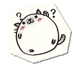Perfectly round cat sticker #751160