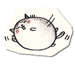 Perfectly round cat sticker #751165