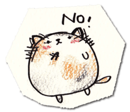 Perfectly round cat sticker #751166