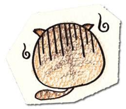 Perfectly round cat sticker #751167