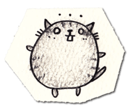 Perfectly round cat sticker #751168