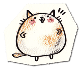 Perfectly round cat sticker #751169