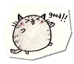 Perfectly round cat sticker #751174