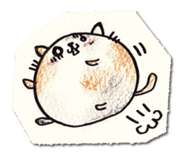 Perfectly round cat sticker #751175
