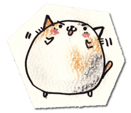 Perfectly round cat sticker #751177