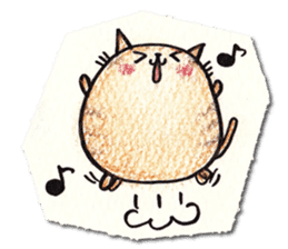 Perfectly round cat sticker #751178