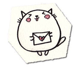 Perfectly round cat sticker #751179