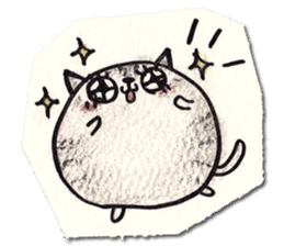 Perfectly round cat sticker #751180