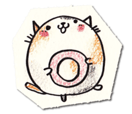 Perfectly round cat sticker #751181