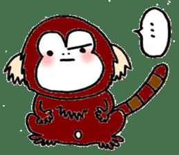 Together Monkey Sticker sticker #753663