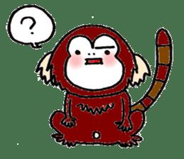 Together Monkey Sticker sticker #753664