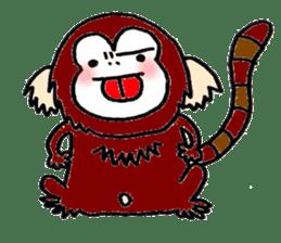 Together Monkey Sticker sticker #753665