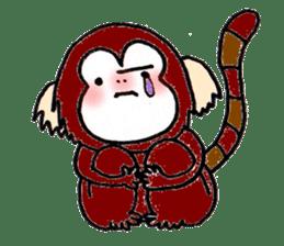 Together Monkey Sticker sticker #753666