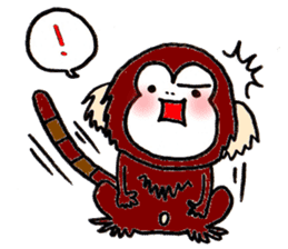 Together Monkey Sticker sticker #753669