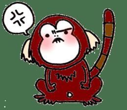 Together Monkey Sticker sticker #753670