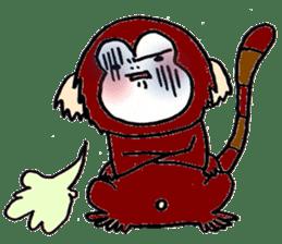 Together Monkey Sticker sticker #753682
