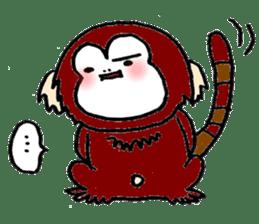 Together Monkey Sticker sticker #753687