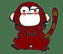 Together Monkey Sticker sticker #753691