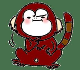 Together Monkey Sticker sticker #753693