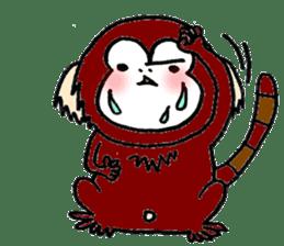 Together Monkey Sticker sticker #753696