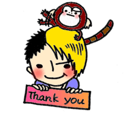 Together Monkey Sticker sticker #753702