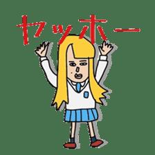 Female college student M sticker #753743