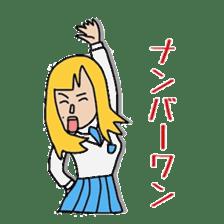 Female college student M sticker #753746