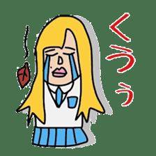 Female college student M sticker #753755