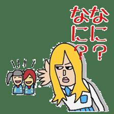 Female college student M sticker #753761