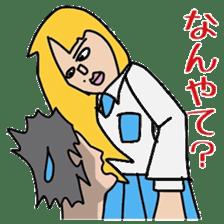 Female college student M sticker #753768