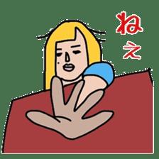 Female college student M sticker #753776