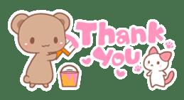 Bear, rabbit, panda, cat sticker #753943