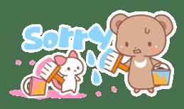 Bear, rabbit, panda, cat sticker #753944