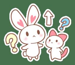Bear, rabbit, panda, cat sticker #753950