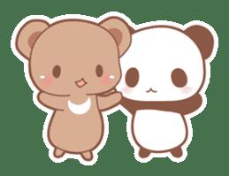 Bear, rabbit, panda, cat sticker #753951