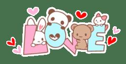 Bear, rabbit, panda, cat sticker #753952
