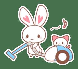 Bear, rabbit, panda, cat sticker #753965