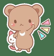 Bear, rabbit, panda, cat sticker #753972