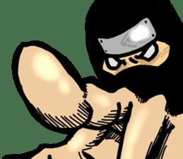 comic ninja sticker #755223