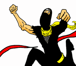 comic ninja sticker #755228