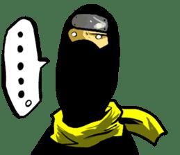 comic ninja sticker #755236