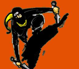 comic ninja sticker #755237