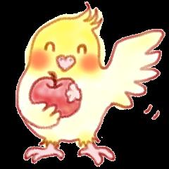 It is a Sticker of cockatiel !