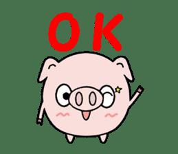 Cute pig Buhimaru sticker #756704