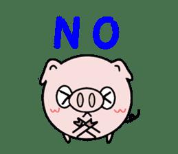 Cute pig Buhimaru sticker #756705